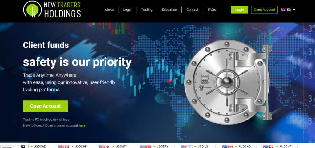 New Traders Holdings Review, Plattform für neue Traders Holdings