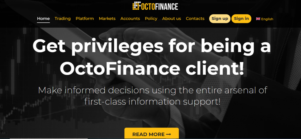 OctoFinance Review, OctoFinance-Plattform