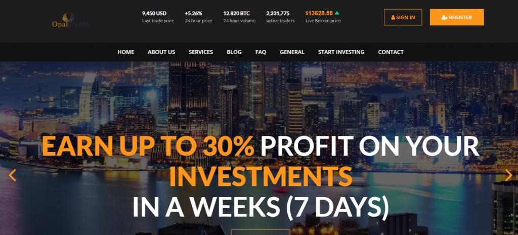OpalCrypto Invest, OpalCryptoinvest.com Platform