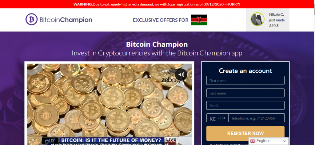 Bitcoin Champion Review, Bitcoin Champion Platform