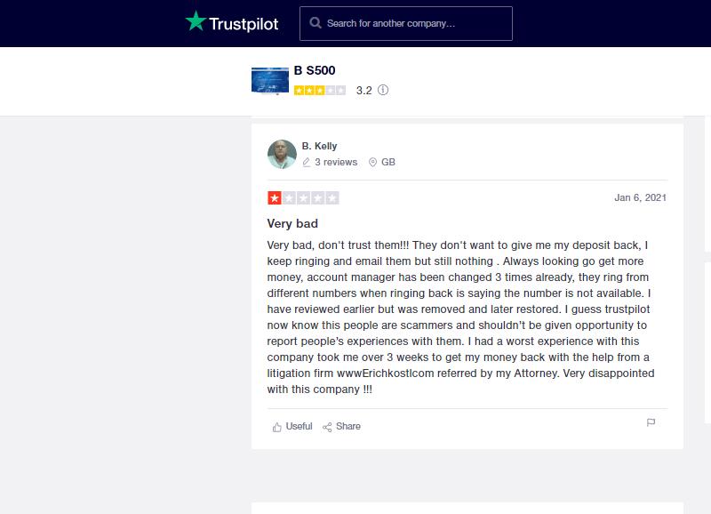 Opinie klientów i ocena użytkowników BS500
