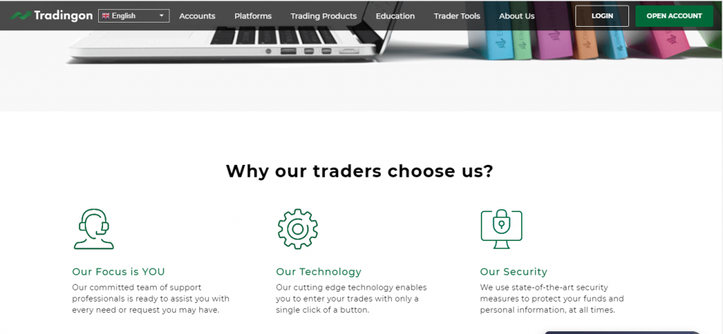 TradingOn Review, TradingOn-functies