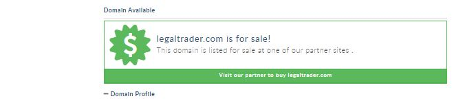 Website legaltrader.com on sale