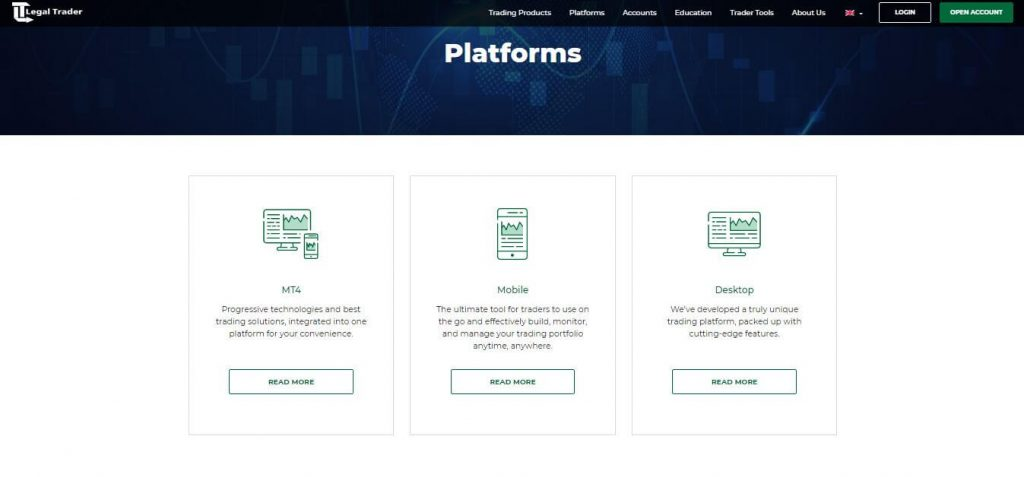 Legal Trader Available Trading Platforms